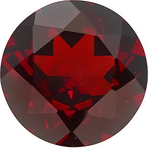 Engagement Red Garnet Stone, Round Shape, Grade AAA, 7.00 mm in Size, 1.65 carats