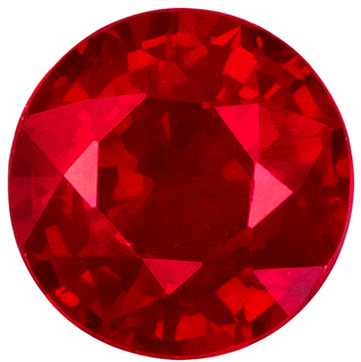 Engagement Ruby Gem in 0.72 carat Round shaped gemstone, 5.1 mm