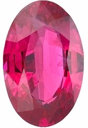 Engagement Ruby Gem, Oval Shape, Grade A, 4.00 x 3.00 mm in Size, 0.25 Carats