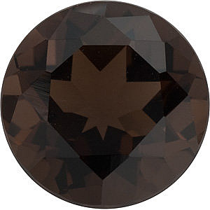 Faceted   Smokey Quartz Stone, Round Shape, Grade AAA, 4.00 mm in Size, 0.24 Carats