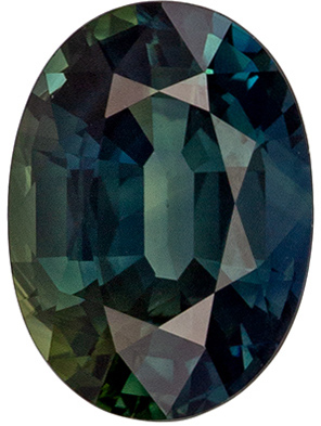 Engagement Stone Blue Green Sapphire Oval Cut, 1.21 carats, 7.2 x 5.2 mm