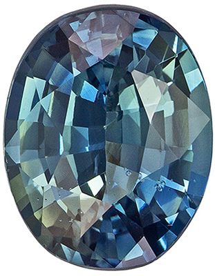 Engagement Stone Blue Green Sapphire Oval GIA Certed No Heat, 1.97 carats, 8.46 x 6.63 x 4.17 mm