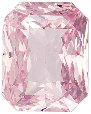 Engagement Stone GIA Certed Pinky Peach Sapphire Radiant No Heat, 5.06 carats, 9.93 x 7.79 x 6.06 mm