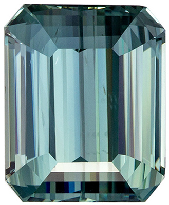 Engagement Stone in Blue Green Sapphire Emerald Cut, GIA No Heat, 8.04 carats, 11.39 x 9.3 x 6.88 mm, Rare Color and Size