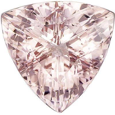 Engagement Stone Pink Morganite Trillion Cut, 8.56 carats, 15.2 x 14.9 mm