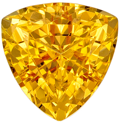 Fiery Precious Topaz Peachy Golden Color in Trillion No Heat, 1.61 carats, 7.0 mm