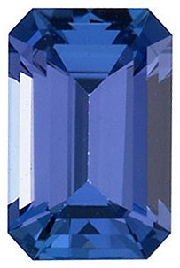Engagement Tanzanite Gemstone, Emerald Shape, Grade AAA, 6.00 x 4.00 mm in Size, 0.6 Carats