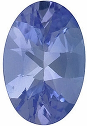 Loose  Tanzanite Stone, Oval Shape, Grade A, 6.00 x 4.00 mm in Size, 0.5 Carats