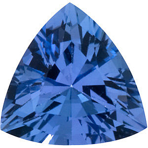 Faceted Loose  Tanzanite Stone, Trillion Shape, Grade AAA, 6.50 mm in Size, 0.88 Carats