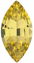 Loose Natural  Yellow Sapphire Gem, Marquise Shape, Grade AA, 7.00 x 3.50 mm in Size, 0.4 Carats