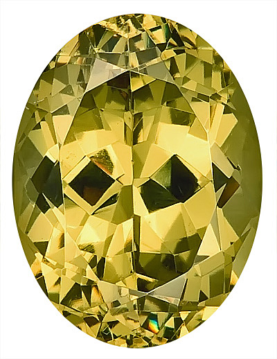 Enthralling Yellow Grossular Garnet Unheated Gemstone, Oval Cut, 10.9 x 0.3 mm, 4.2 carats
