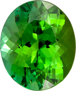 Excellent Cut! Brilliant Grass Green Tourmaline Genuine Gemstone for SALE, Oval Cut, 5.18 carats