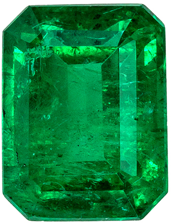Perfect Engagement Ring Emerald Gemstone in Classic  Emerald Cut, Vivid Rich Green Color in 1.67 carats , 7.7 x 5.9 mm