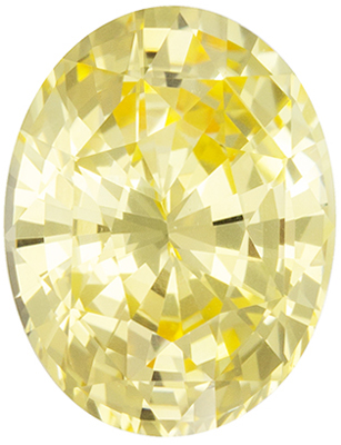 Excellent No Heat GIA Certified Yellow Sapphire Loose Gem, 9.48 x 7.29 x 4.85 mm, Vivid Pure Yellow, Oval Cut, 2.57 carats