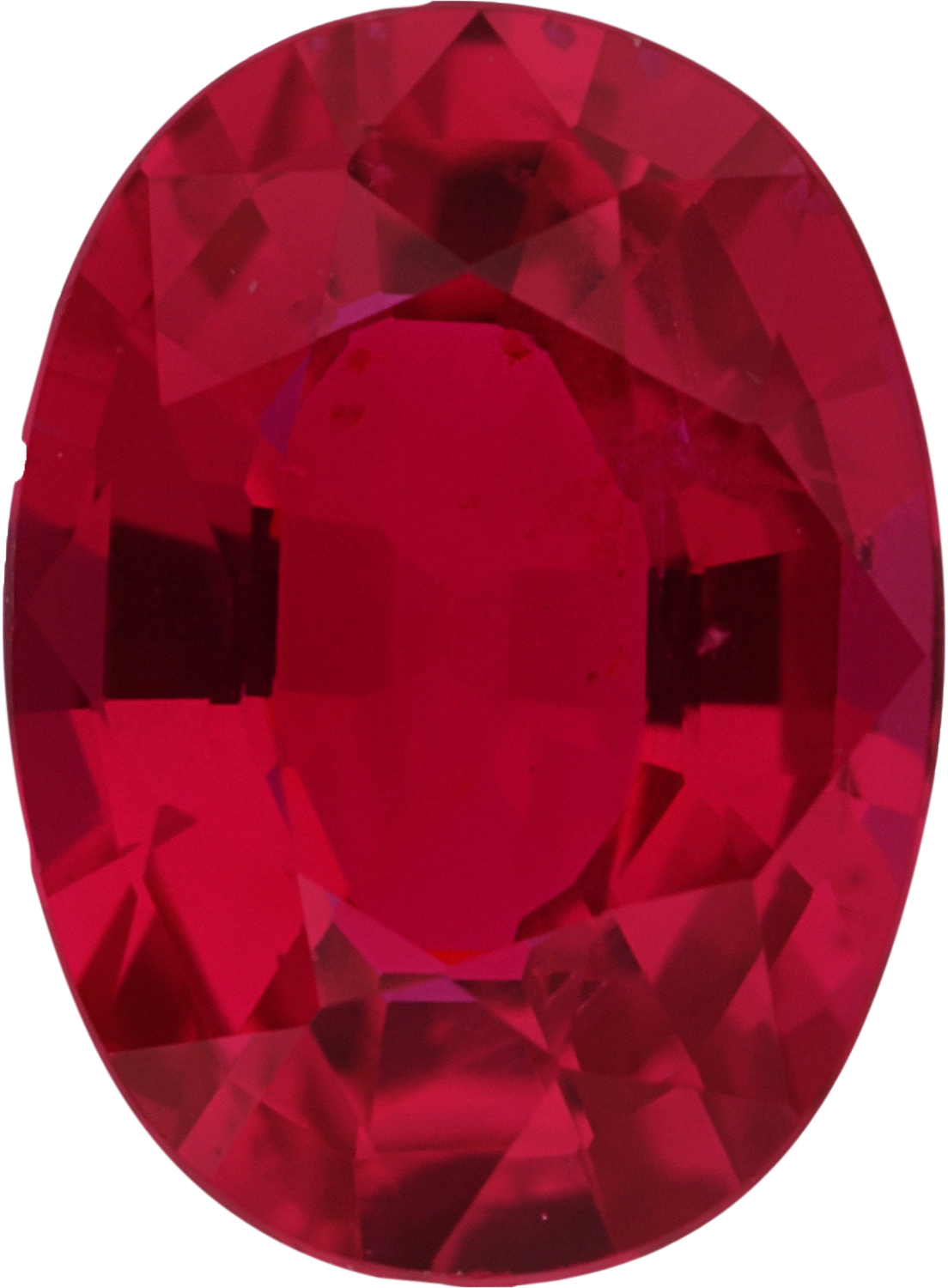 Excellent No Heat Loose Ruby Gem in Oval Cut, Deep  Red Color, 7.49 x 5.50 mm, 1.15 carats