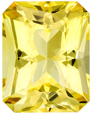 Excellent Radiant Cut Beryl Loose Gem, Vivid Lemon Yellow, 9.6 x 7.5 mm, 2.22 carats - SOLD