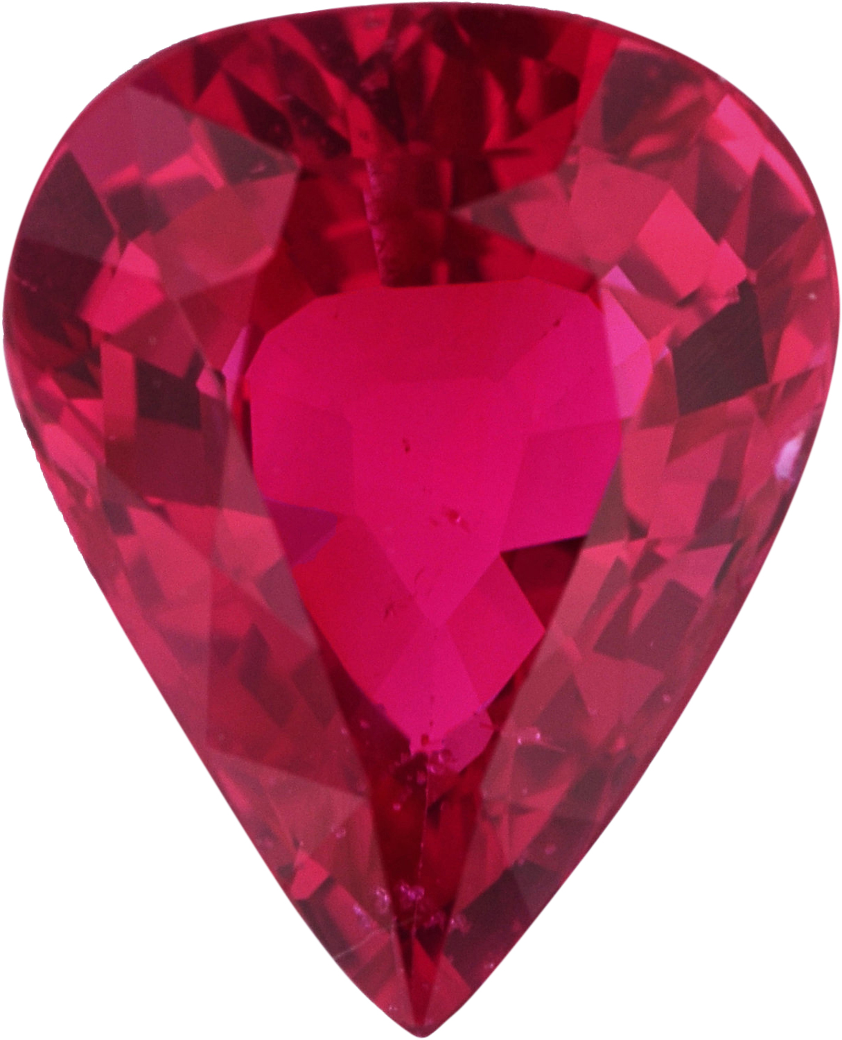 Excellent  Unheated Ruby Loose Gem in Pear Cut, Medium Purple Red, 8.10 x 6.56  mm, 1.5 Carats