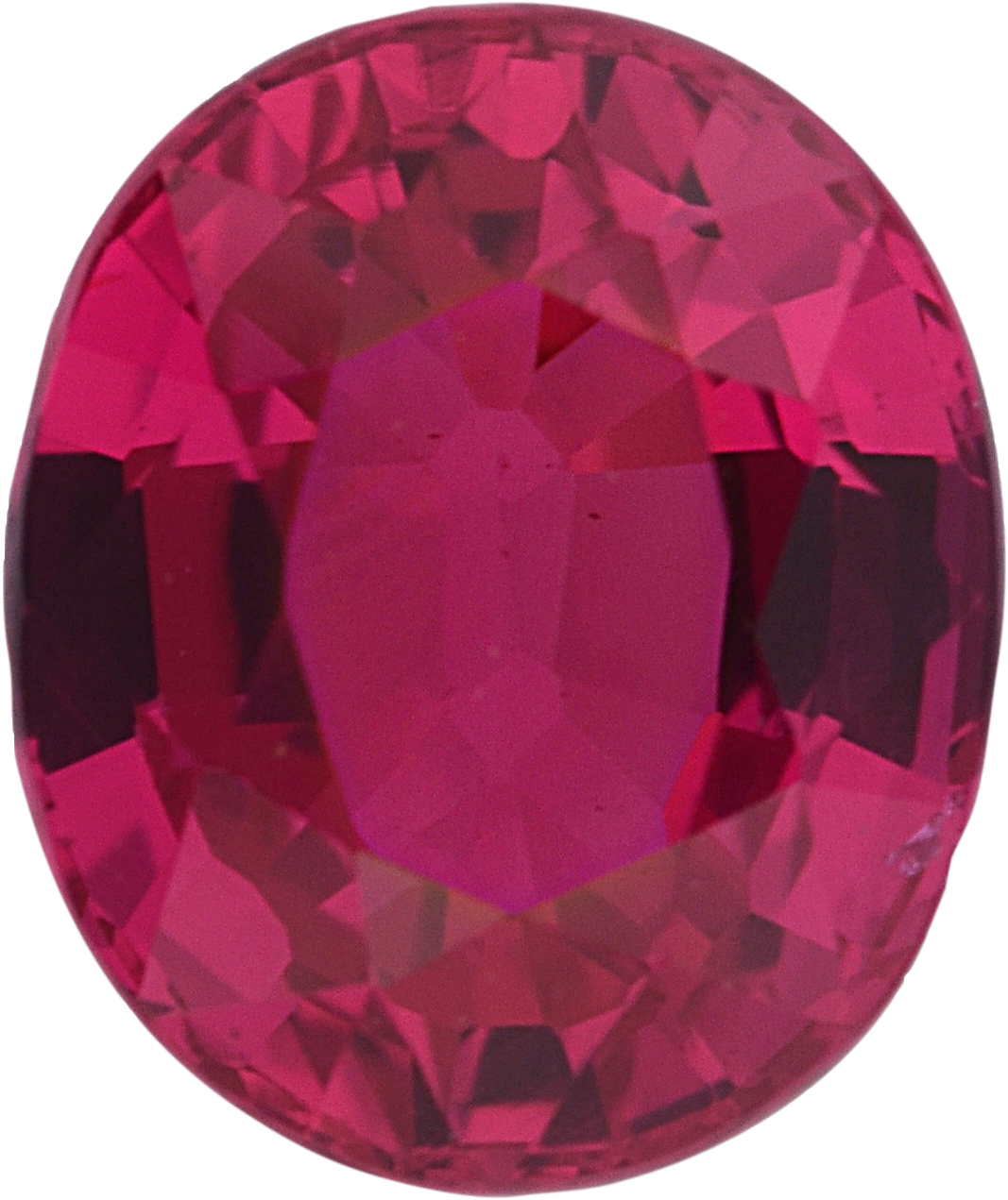 Excellent Value  Untreated Ruby Loose Gem in Oval Cut, Medium Purple Red, 6.34 x 5.33  mm, 1.15 Carats