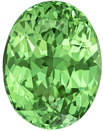 Exceptional Clarity & Color in GEM Green Stone in Oval Cut, Fine Mint Green Color in 9.5 x 7.3 mm, 2.89 carats