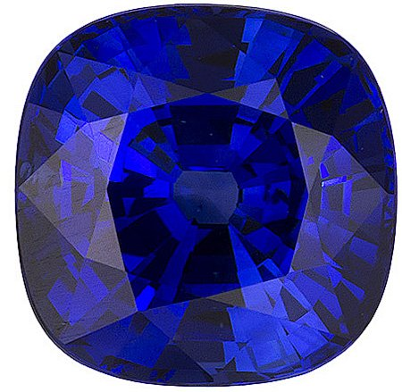 Exceptional Color Clarity Make on Ceylon Blue Loose Sapphire! Antique square Cut, 2.44 carats - SOLD
