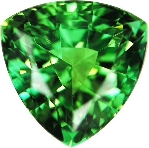 Loose Genuine Exceptional Color in Trillion Genuine Minty Green Tourmaline, 11.7mm, 5.93 carats