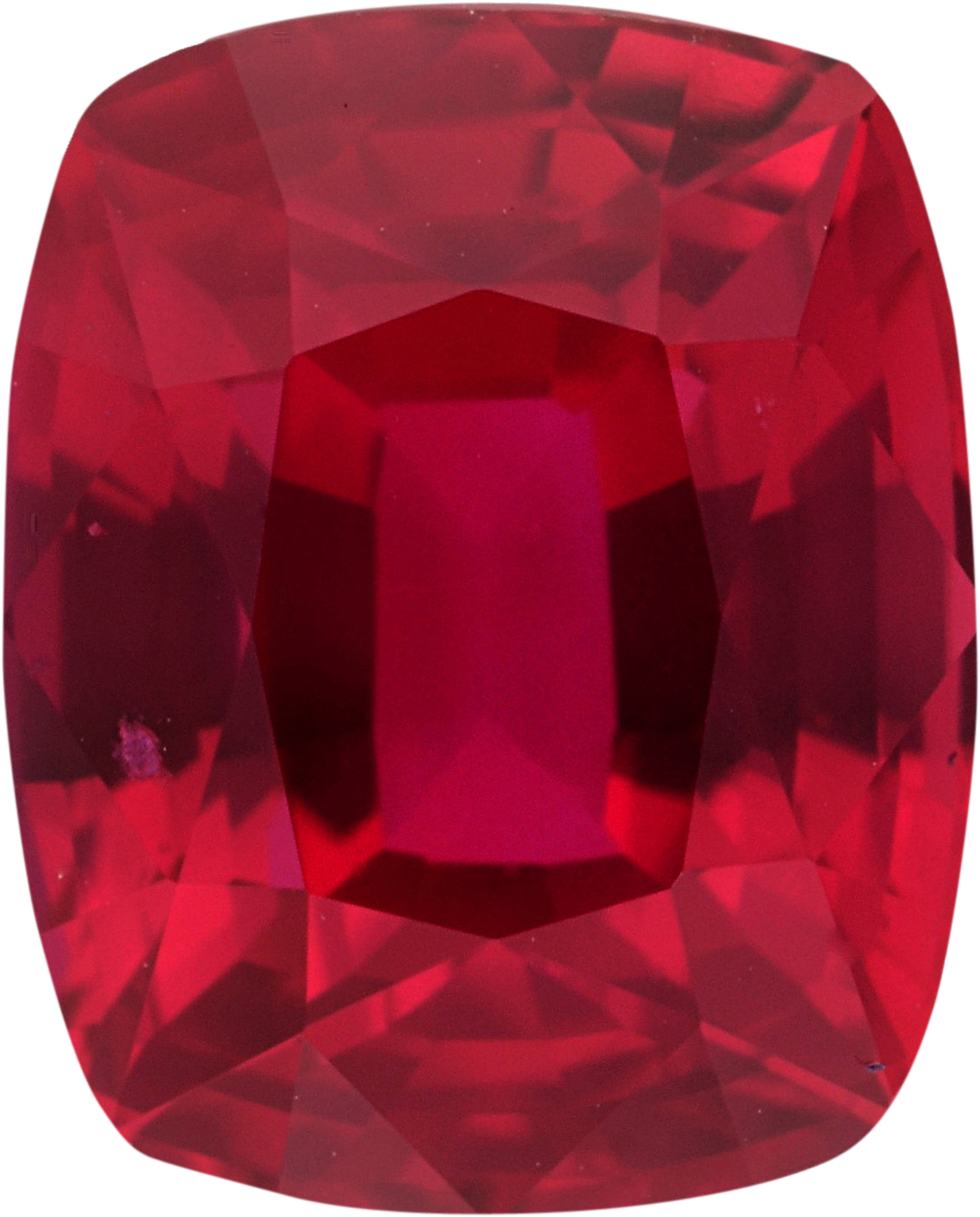 Exceptional Cushion Cut Loose Ruby Gem, Deep Red Color, 7 x 5.68 mm, 1.65 carats