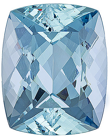 Exceptional Fine Fabulous Large Unheated Aquamarine Gemstone for SALE! Simply Gorgeous! Cushion Cut, 17.91 carats