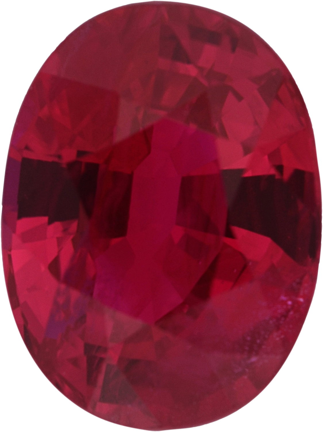 Exceptional Loose Ruby Gem in Oval Cut, Deep  Red Color, 7.61 x 5.75 mm, 1.53 carats