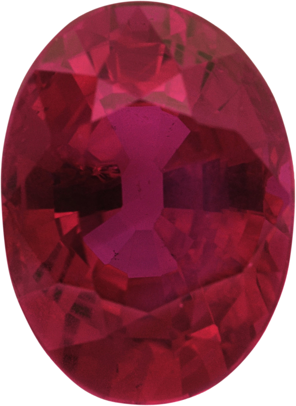 Exceptional Loose Ruby Gem in Oval Cut,  Red Color, 6.75 x 4.92 mm, 1.06 carats