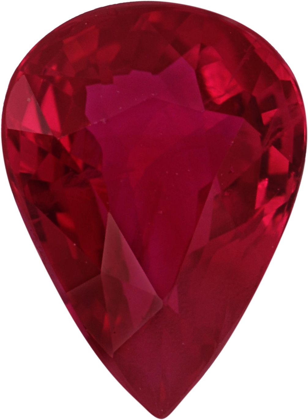 Exceptional Pear Shape Loose Ruby Gem, Vivid  Red Color, 7 x 5.17 mm, 1.05 carats