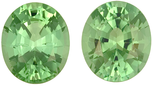 Exceptional Radiant Bright Mint Green No HeatTourmalines - Well Matched Pair, 11.0 x 9.5mm, 8.09 carats