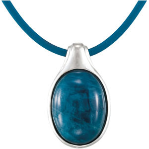 Exciting Bezel Set 10.5ct 16x12mm Oval Opaque Apatite Pendant skillfully set in Sterling Silver for SALE - FREE Chain Included