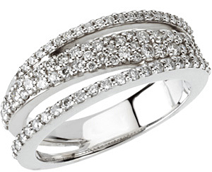 Exclusive .75 ct 1-1.5mm Diamond Ring set in 14kt White Gold for SALE