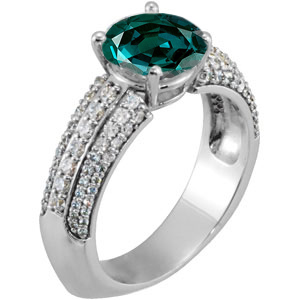 Exquisite Euro Shank Genuine Alexandrite Engagement Ring set With Stunning 1 ct Genuine Fine Alexandrite Stone