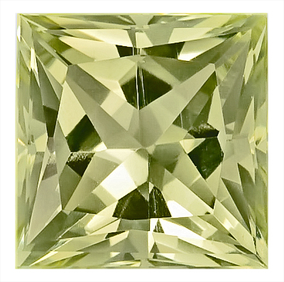Exquisite Greenish Yellow Beryl Unheated Gem- Best Price! Princess Cut, 10.9 x 10.9 mm, 6.24 carats