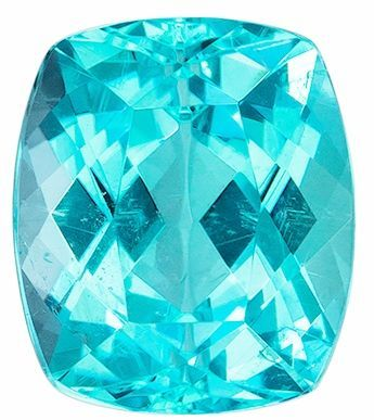 Exquisite Paraiba Tourmaline, Super Fine Gem in 2.23 carats, Cushion shape gemstone, 8.12 x 7.03 x 5.37 mm with GIA Cert.