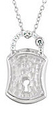 Exquisite Sterling Silver Lock Pendant With .07ct Diamond Studded Part for SALE - FREE Chain Included With Pendant - SOLD
