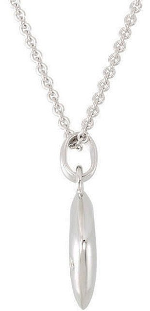 Exquisite Sterling Silver Open Diamond Shape Pendant with a Single Diamond Accent - FREE Chain Included - SOLD
