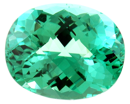 Extraordinary Fine Color - Hot Minty Green Tourmaline Gemstone 19.03 carats