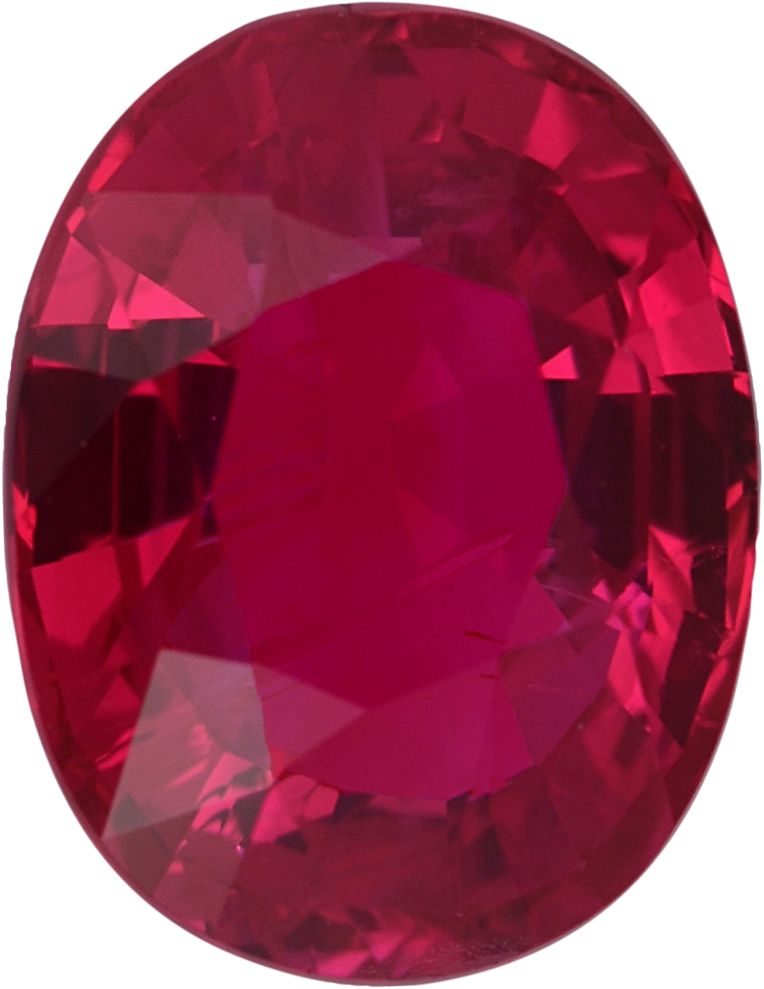 Eye-Catching Oval Cut Loose Ruby Gem, Deep  Red Color, 7.47 x 5.78 mm, 1.53 carats
