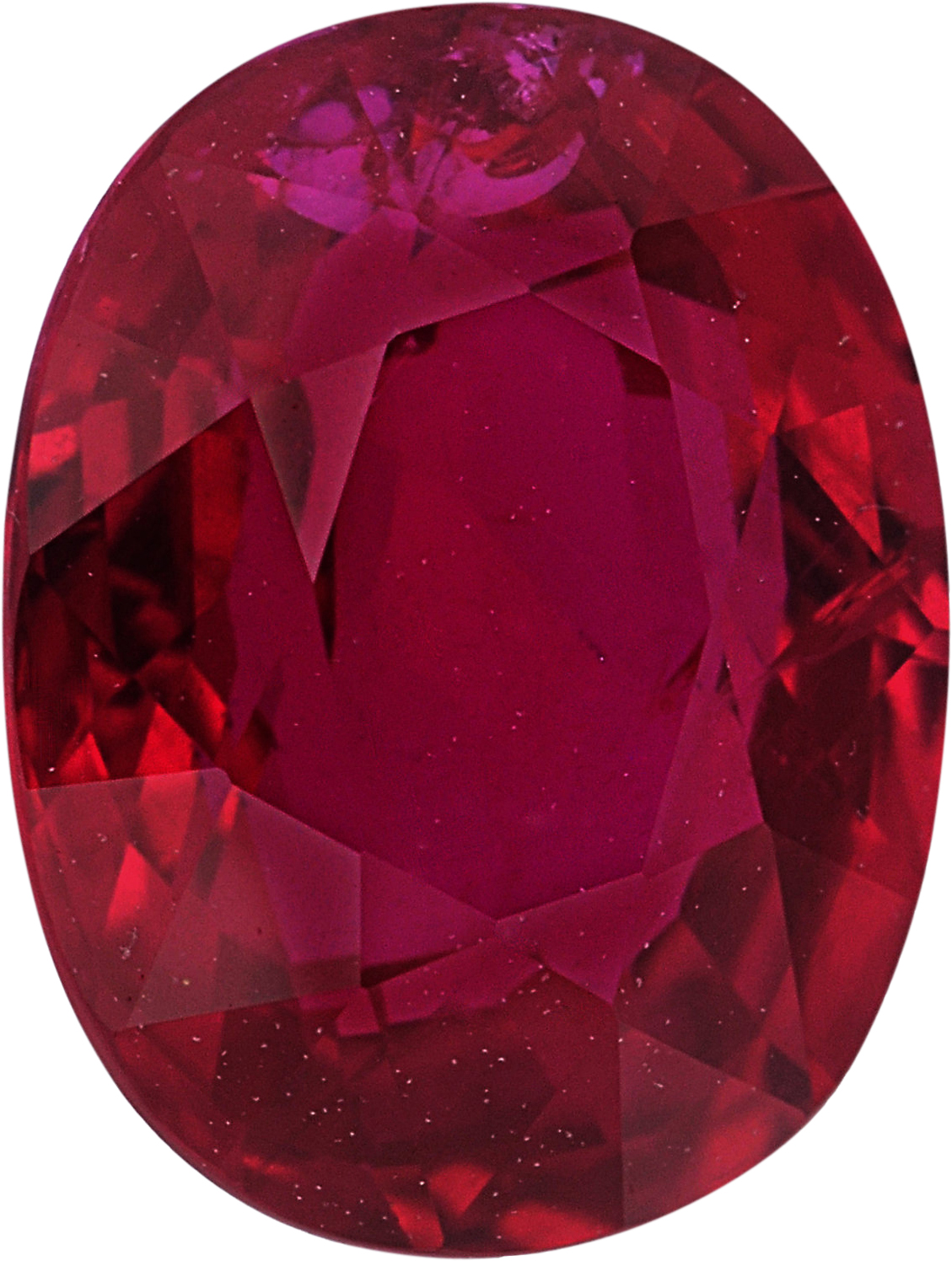 Eye-Catching Oval Cut Loose Ruby Gem, Deep  Red Color, 8.02 x 6.31 mm, 2.02 carats