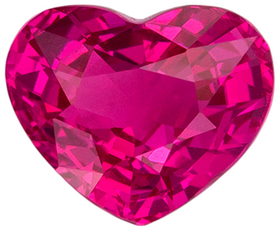 Eye Catching Pink Sapphire Genuine Gemstone, 6.3 x 5.2 mm, Rich Pure Pink, Heart Cut, 1.08 carats
