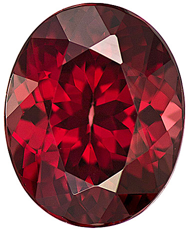 Eye-Catching Rich Red Color Rhodolite Garnet Gem in Oval Cut, 10.8 x 8.7 mm, 4.35 carats - SOLD