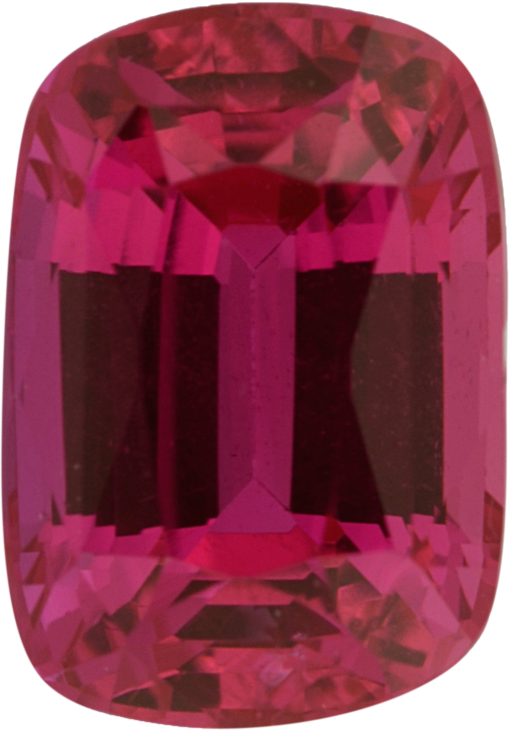 Eye-Catching Ruby Loose Gem in Antique Cushion Cut, Light Purple Red, 7.01 x 4.93  mm, 1.38 Carats