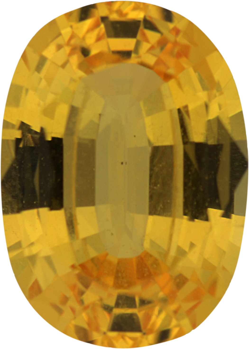 Eye-Catching Sapphire Loose Gem in Oval Cut, Light Orangy Yellow, 6.90 x 4.94  mm, 0.91 Carats
