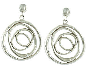 Fabulous 0.40 carat total weight 1.50 mm Diamond Earrings expertly set in Sterling Silver & 14 karat White Gold for SALE