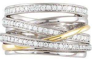 Fabulous 0.50 Carat Total Weight Two Tone 1.20 Round Shaped Diamond Ring expertly set in 14 karat White/Yellow Gold