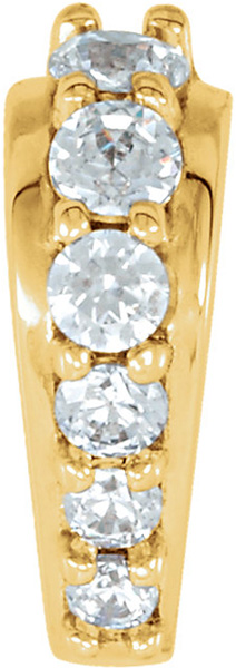 Fabulous 14kt Gold .05 CTW Diamond Accented Preset Tapered Bail
