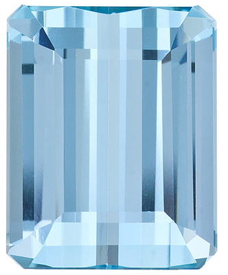 Fabulous Cut and Color, Enchanting Brazilian Aquamarine Gem for SALE, Emerald  Cut, 4.8 Carats