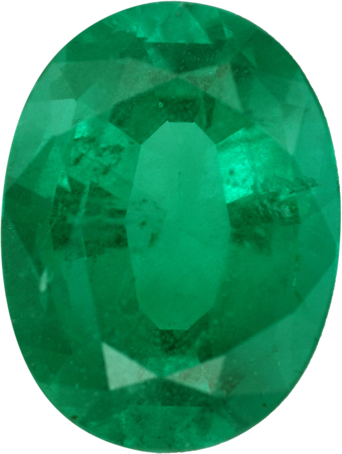 Fabulous Emerald Loose Gem in Oval Cut, Vibrant Blue Green, 8.09 x 6.12  mm, 1.14 Carats